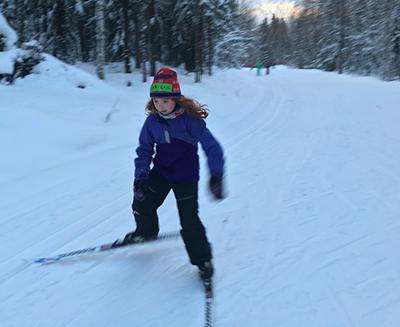 Junior Nordic skier - image by Rebecca Heaton